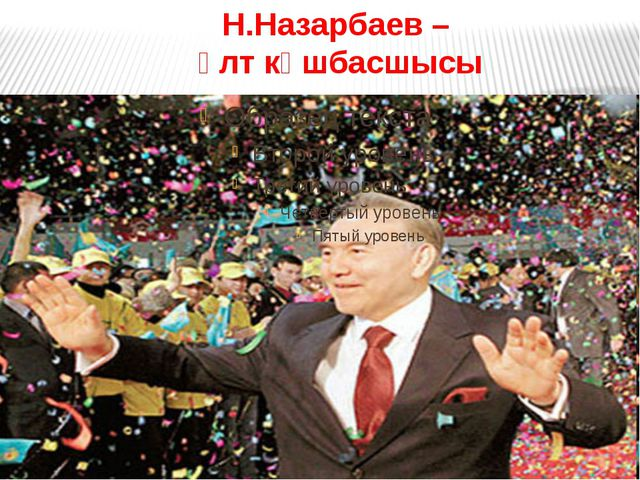 Н.Назарбаев – ұлт көшбасшысы