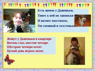 . http://aida.ucoz.ru Живут у Дашеньки в квартире Восемь глаз, хвостов четыре