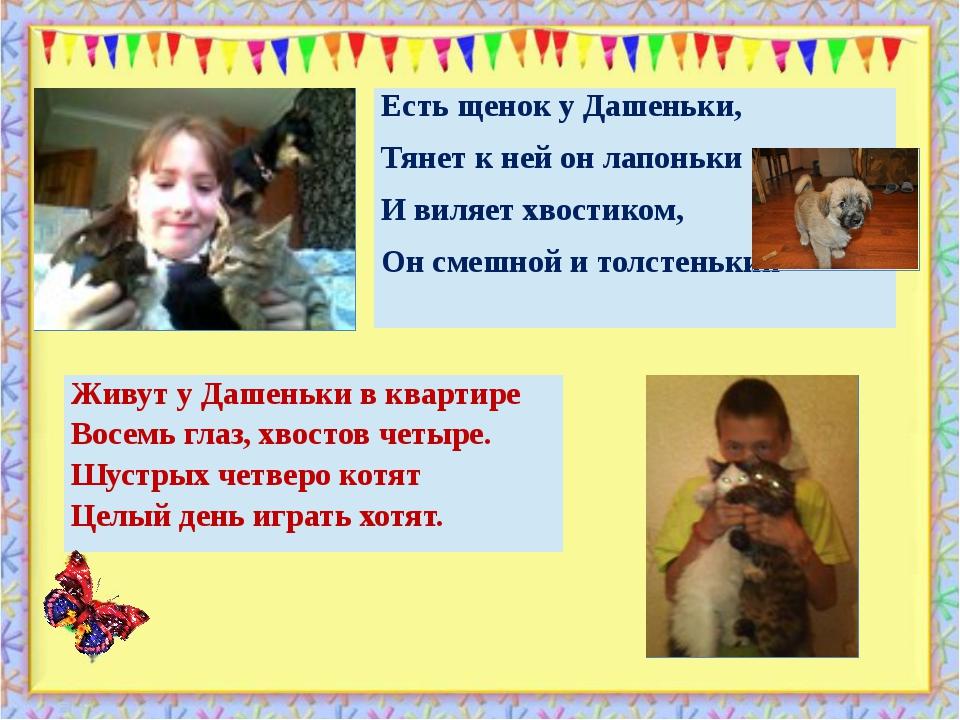 . http://aida.ucoz.ru Живут у Дашеньки в квартире Восемь глаз, хвостов четыре...