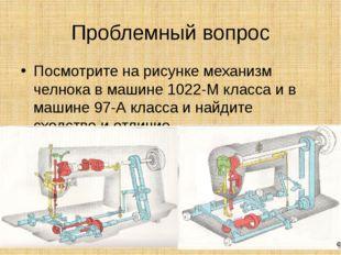 Проблемный вопрос Посмотрите на рисунке механизм челнока в машине 1022-М клас