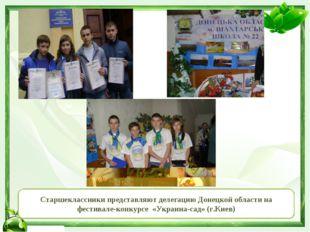 Старшеклассники представляют делегацию Донецкой области на фестивале-конкурсе