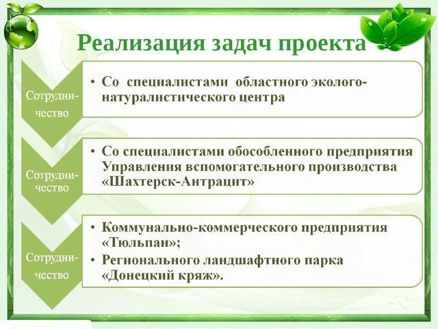 Реализация задач проекта