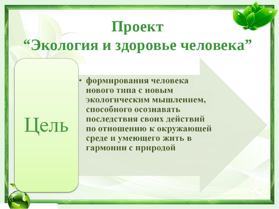 """Проект """"Экология и здоровье человека"""""""