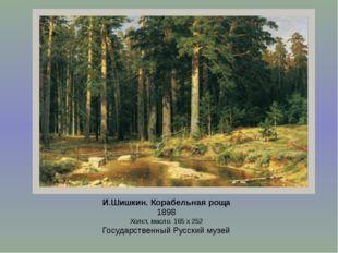 И.Шишкин. Корабельная роща 1898 Холст, масло. 165 х 252 Государственный Русск