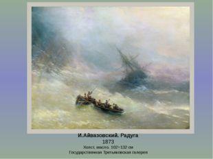 И.Айвазовский. Радуга 1873 Холст, масло. 102×132см Государственная Третьяков