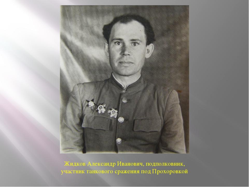Жидков Александр Иванович, подполковник, участник танкового сражения под Прох...