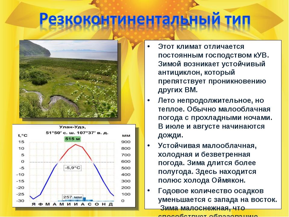 Этот климат отличается постоянным господством кУВ. Зимой возникает устойчивый...