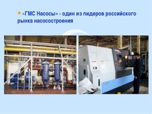 «ГМС Насосы» - один из лидеров российского рынка насосостроения