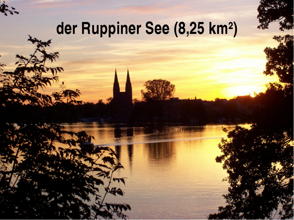 der Ruppiner See (8,25 km²)