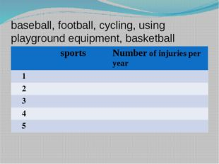 baseball, football, cycling, using playground equipment, basketball sports Nu