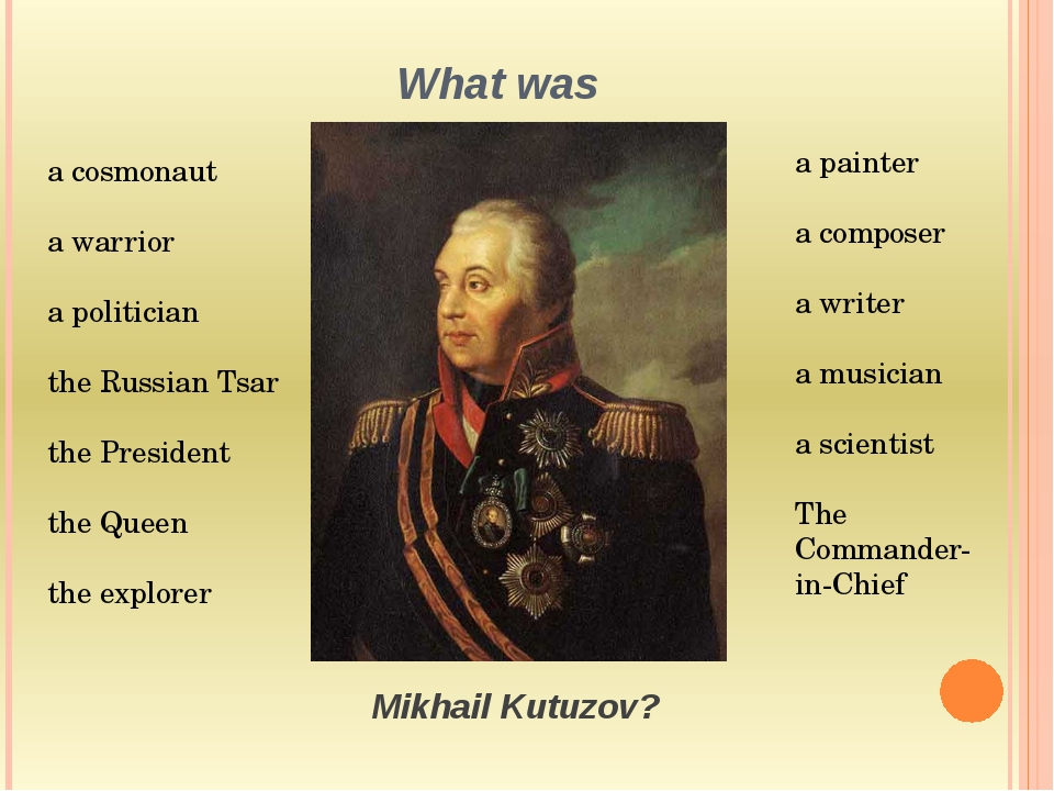 What was a cosmonaut a warrior a politician the Russian Tsar the President th...