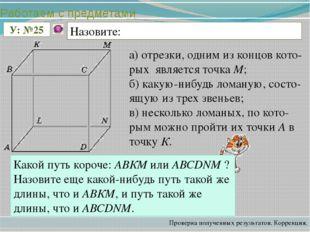 а) отрезки, одним из концов кото-рых является точка М; б) какую-нибудь ломану