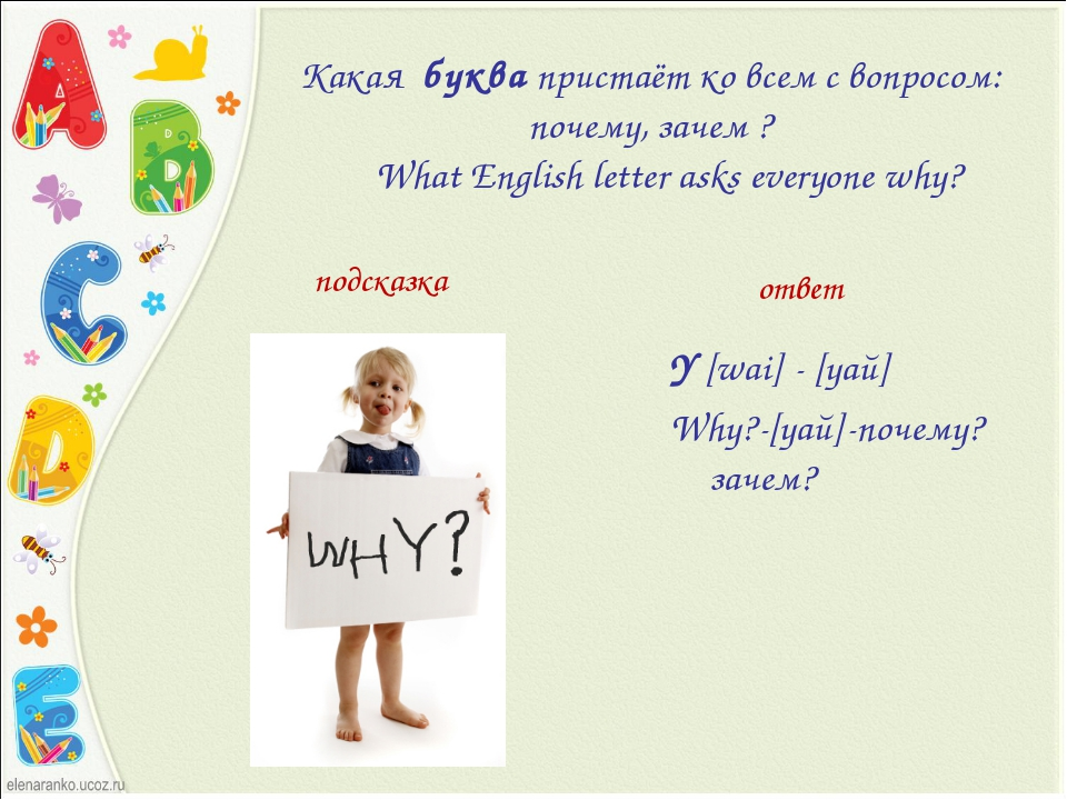Какаябуквапристаёт ко всем с вопросом: почему, зачем ? What English le...