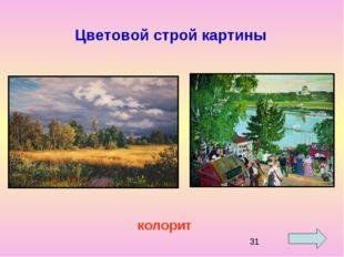 Цветовой строй картины колорит