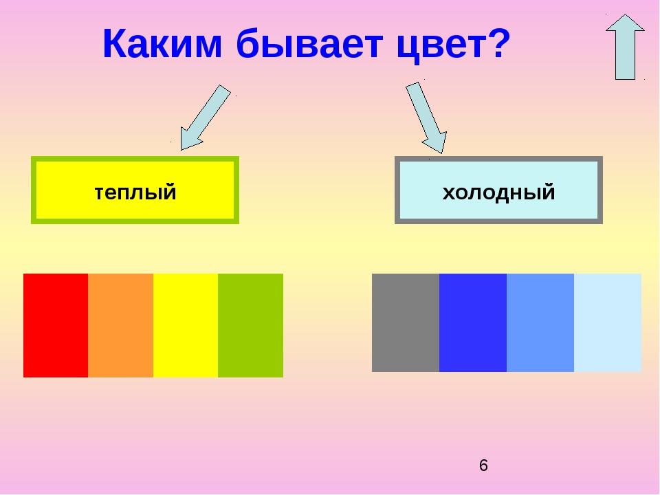 Каким бывает цвет? холодный теплый