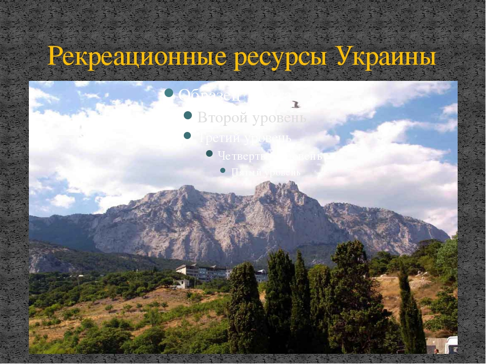 Рекреационные ресурсы Украины