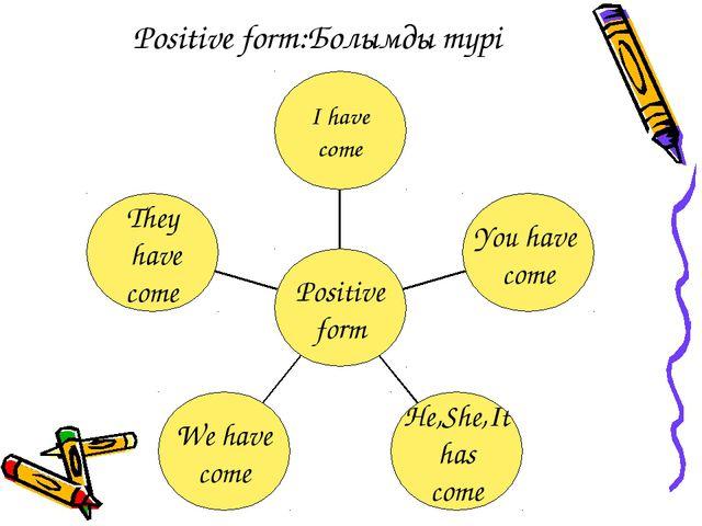 Positive form:Болымды түрі