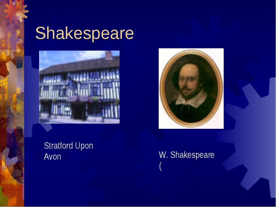 Shakespeare Stratford Upon Avon W. Shakespeare (