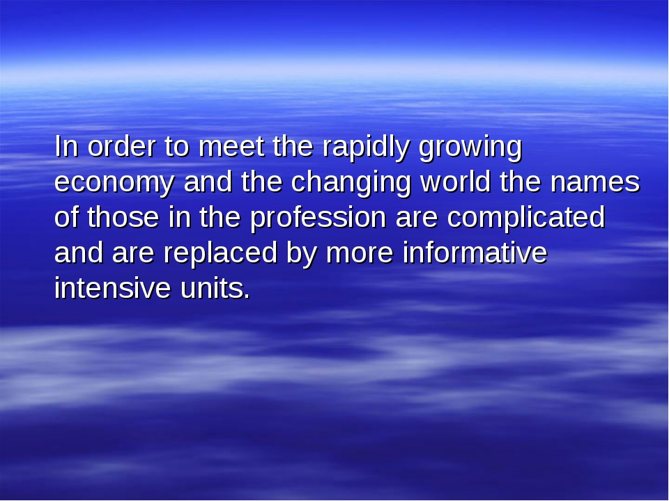 In order to meet the rapidly growing economy and the changing world the name...