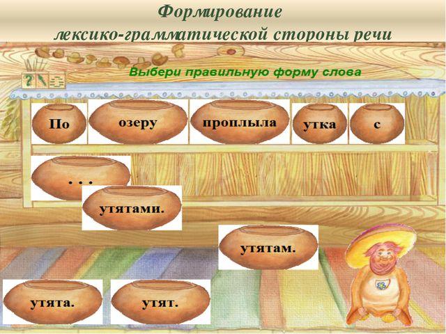 Формирование лексико-грамматической стороны речи