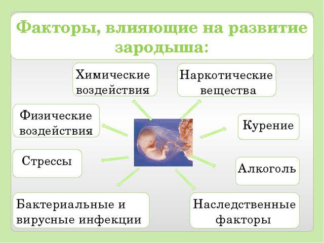 Физические воздействия Наследственные факторы Химические воздействия Курение...