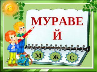 МУРАВЕЙ М Ж С
