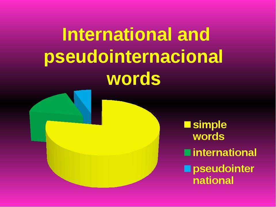 International and pseudointernacional words