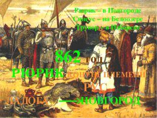 РЮРИК КОНУНГ ПЛЕМЕНИ РУС ЛАДОГА НОВГОРОД Рюрик – в Новгороде Синеус – на Бел
