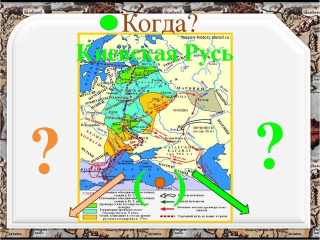 Когда? Киевская Русь ? ? ( )