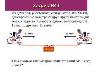 Из двух сёл, расстояние между которыми 96 км, одновременно навстречу друг дру