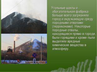Угольные шахты и обогатительная фабрика больше всего загрязняли город и окру
