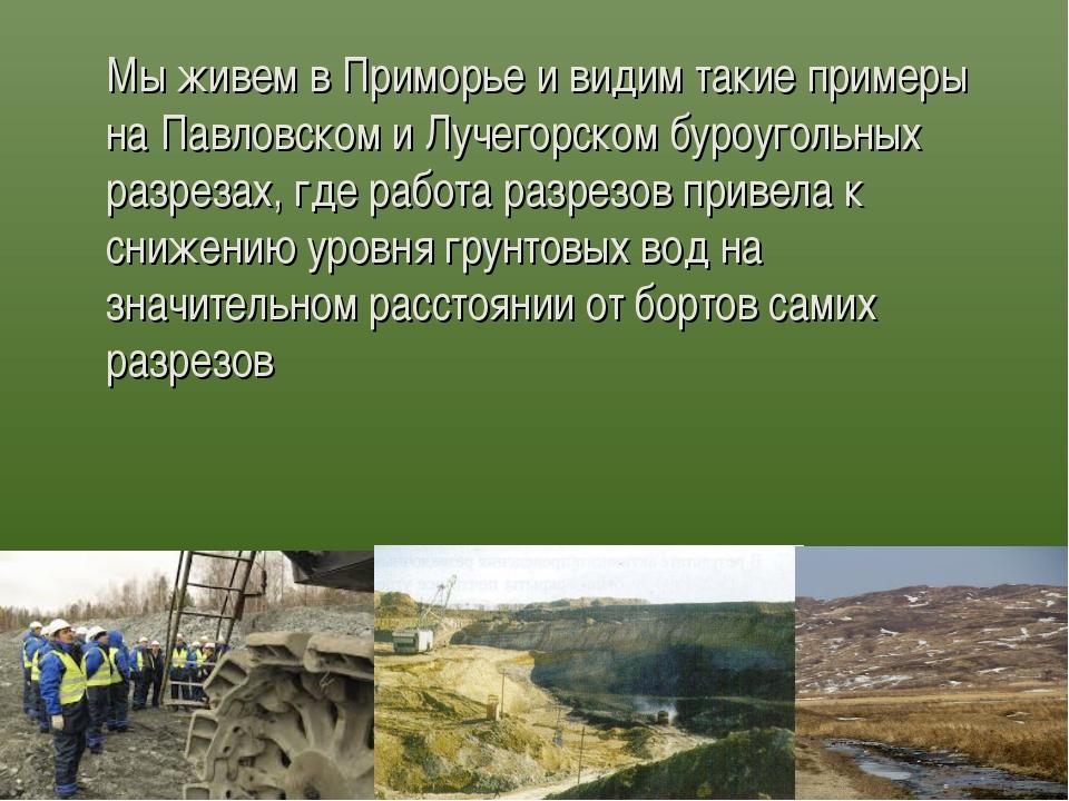Мы живем в Приморье и видим такие примеры на Павловском и Лучегорском буроуг...