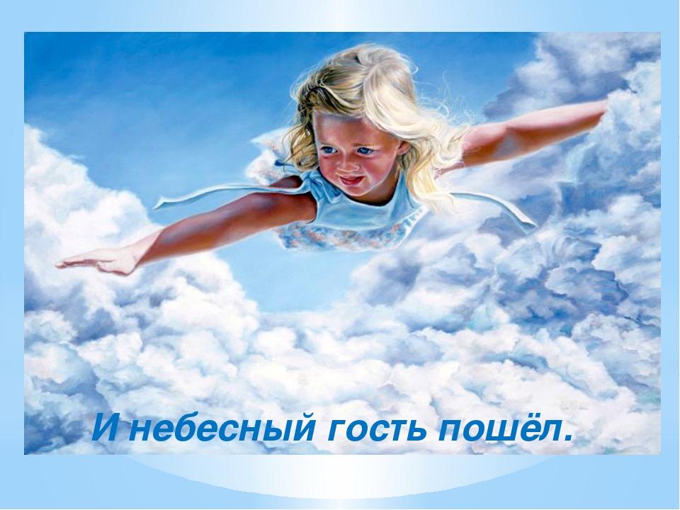 И небесный гость пошёл.