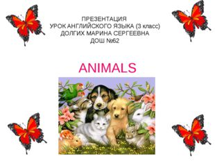 ANIMALS ПРЕЗЕНТАЦИЯ УРОК АНГЛИЙСКОГО ЯЗЫКА (3 класс) ДОЛГИХ МАРИНА СЕРГЕЕВНА