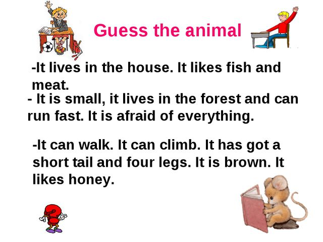 -It lives in the house. It likes fish and meat. - It is small, it lives in t...