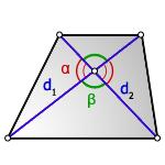 Площадь трапеции через диагонали