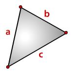 Площадь треугольника, формула Герона