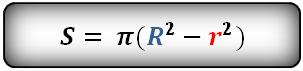 Формула площади кольца