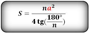 Формула площади правильного многоугольника