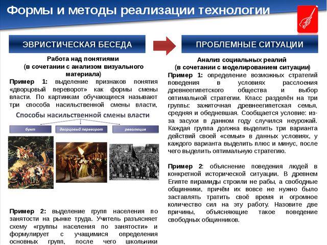 ПРОБЛЕМНЫЕ СИТУАЦИИ Работа над понятиями (в сочетании с анализом визуального...