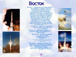 """Восток Восток"""" - первый космический корабль, на котором 12 апреля 1961 был ос"""