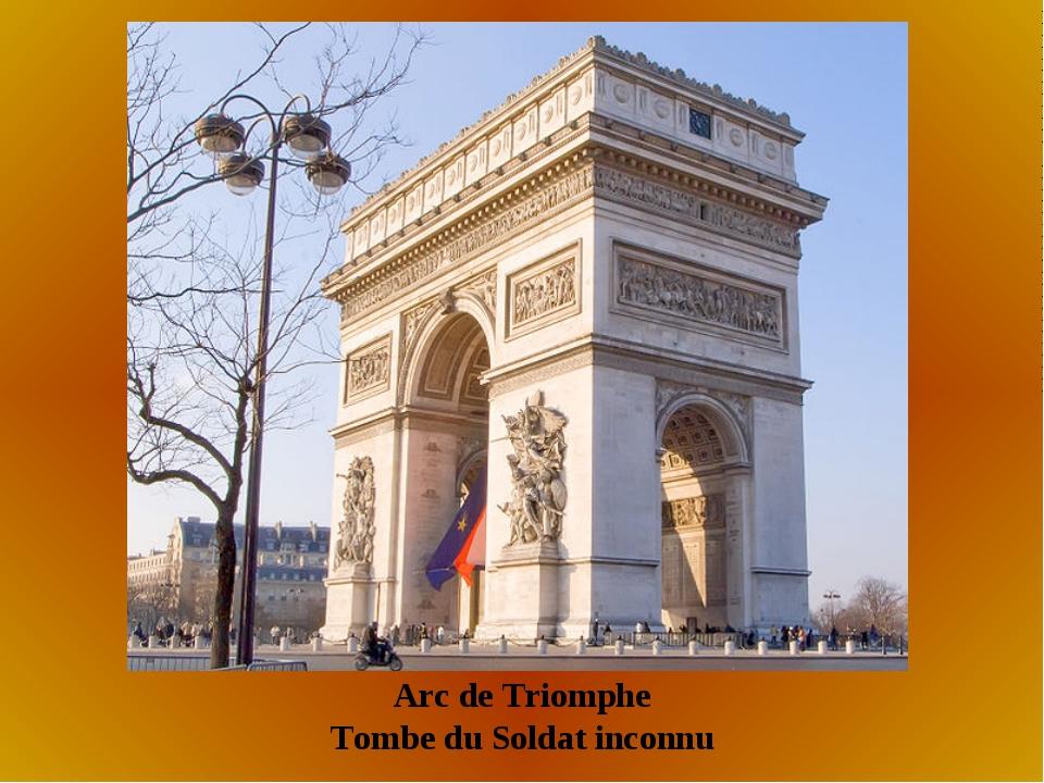 Arc de Triomphe Tombe du Soldat inconnu