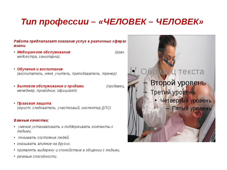 Тип профессии – «ЧЕЛОВЕК – ЧЕЛОВЕК» Работа предполагает оказание услуг в разл...