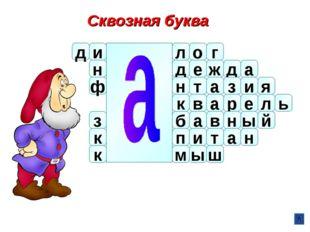 Сквозная буква ш м ы л о г д н ф з к к и д е ж д а н т а з и я в к р а е л а