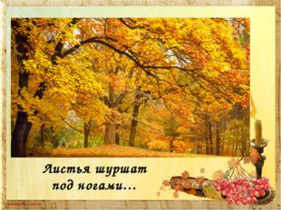 Листья шуршат под ногами…