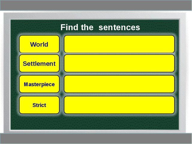 Find the sentences
