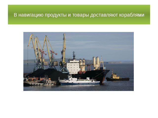 В навигацию продукты и товары доставляют кораблями