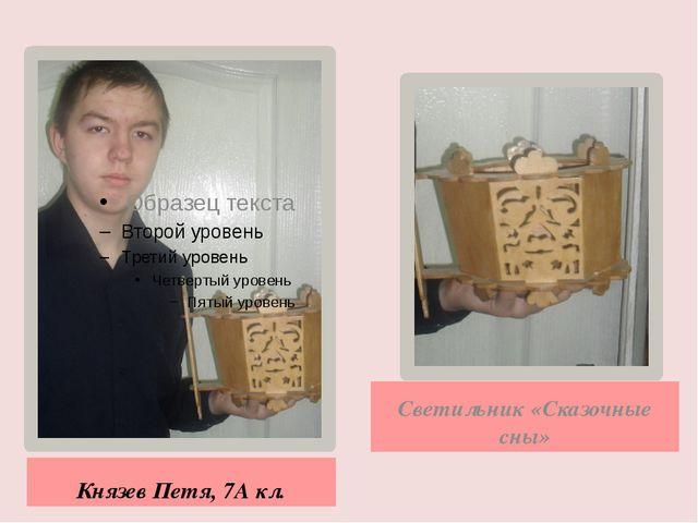 Князев Петя, 7А кл. Светильник «Сказочные сны»