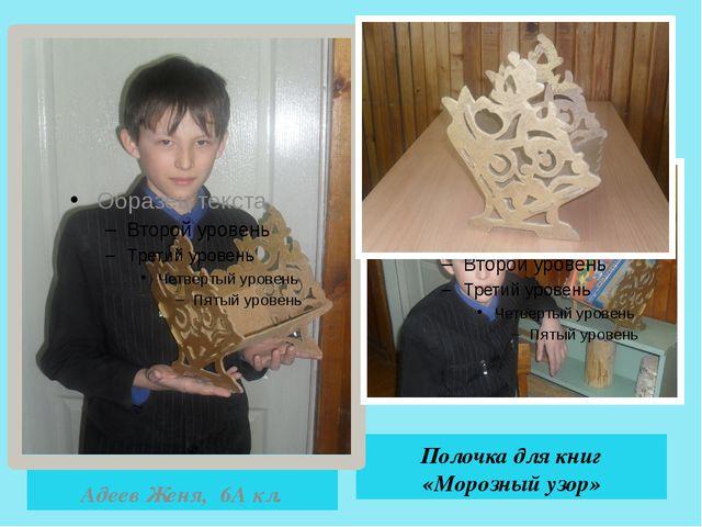 Полочка для книг «Морозный узор» Адеев Женя, 6А кл.
