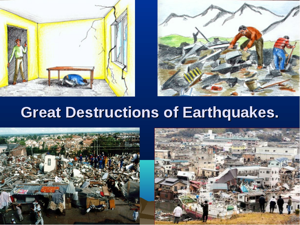 Great Destructions of Earthquakes.